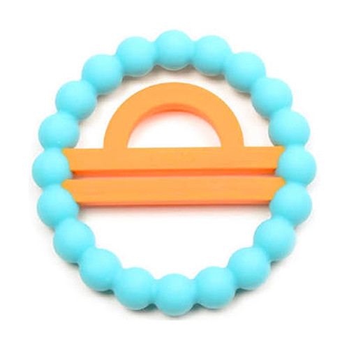 Zodiac Silicone Teether, Libra Blue