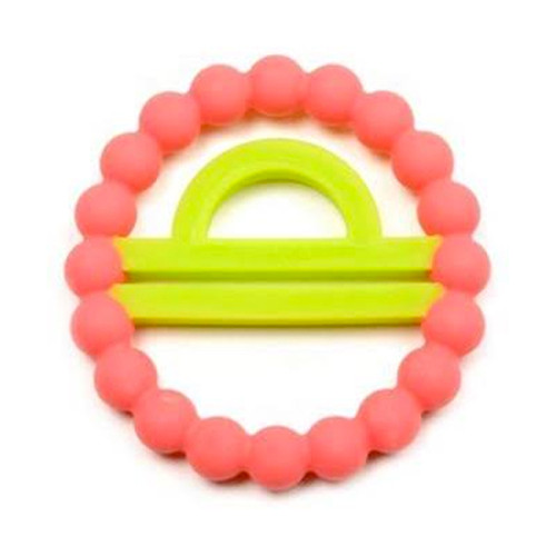Zodiac Silicone Teether, Libra Pink