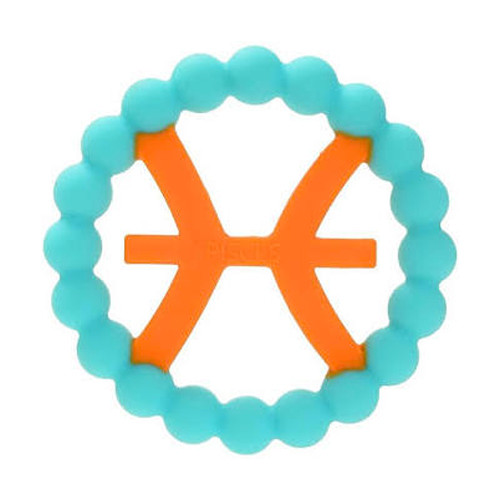 Zodiac Silicone Teether, Pisces Blue