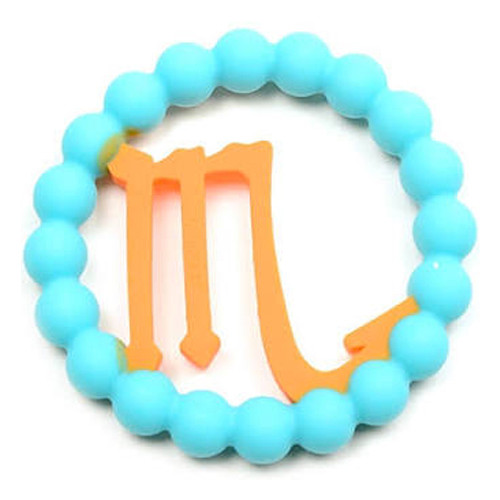 Zodiac Silicone Teether, Scorpio Blue