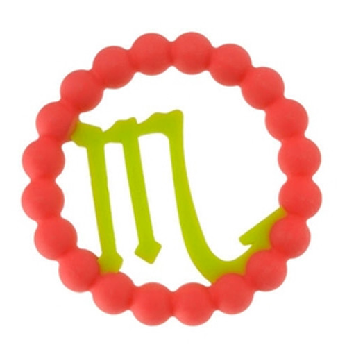 Zodiac Silicone Teether, Scorpio Pink