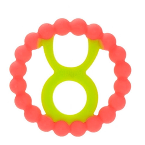 Zodiac Silicone Teether, Taurus Pink
