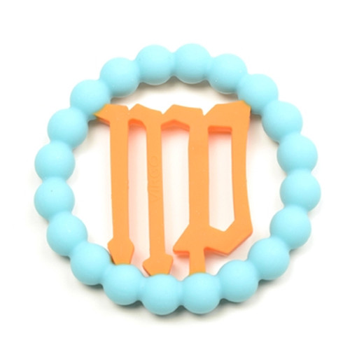 Zodiac Silicone Teether, Virgo Blue