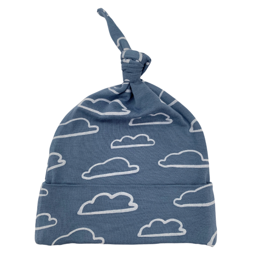Newborn Knot Beanie, Sky Cloud