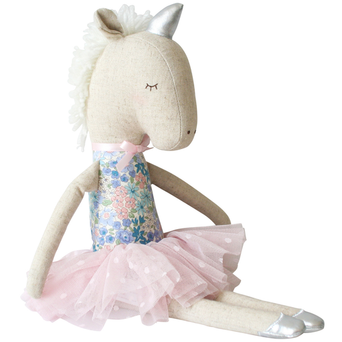 Yvette Unicorn Doll, Liberty Blue