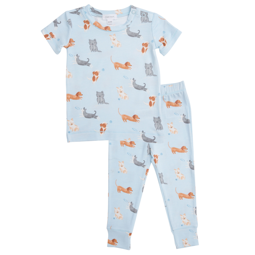 2-Piece Set Lounge Wear Set, Blue Puppies