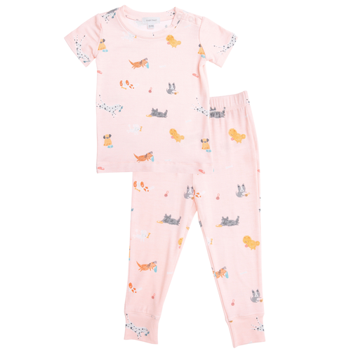 2-Piece Set Lounge Wear Set, Pink Puppies