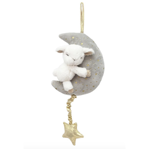 Plush Lamb & Moon Musical Mobile
