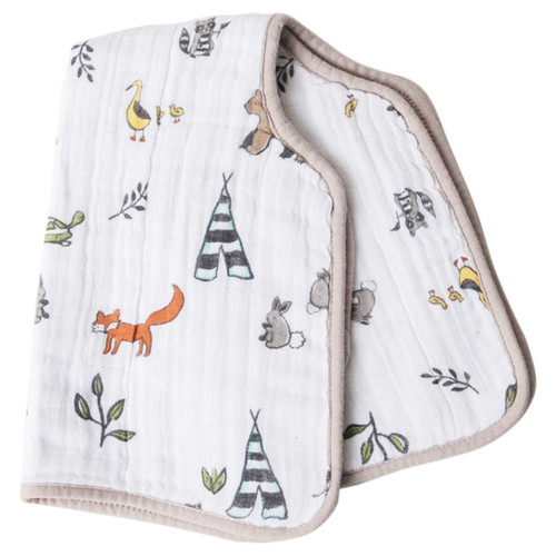 Muslin Burp Cloth, Forest Friends
