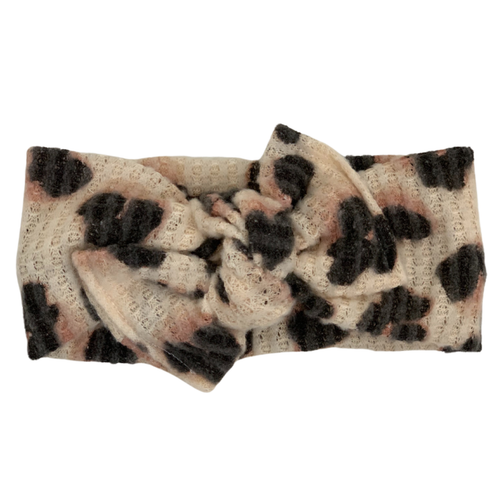 Headwrap Bow, Leopard Sweater