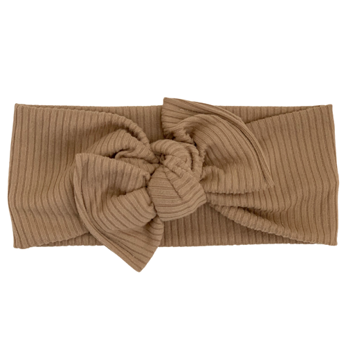 Headwrap Bow, Sand Ribbed