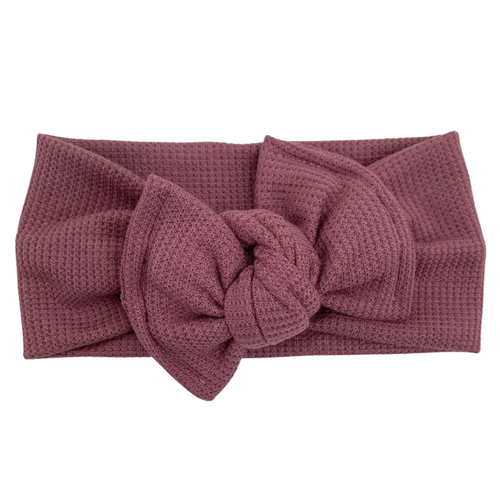 Headwrap Bow, Textured Berry