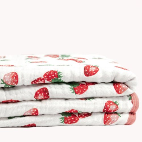 Muslin Quilt, Strawberry Patch