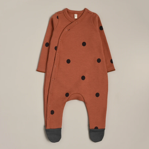 Earth Dots Suit with Contrast Feet