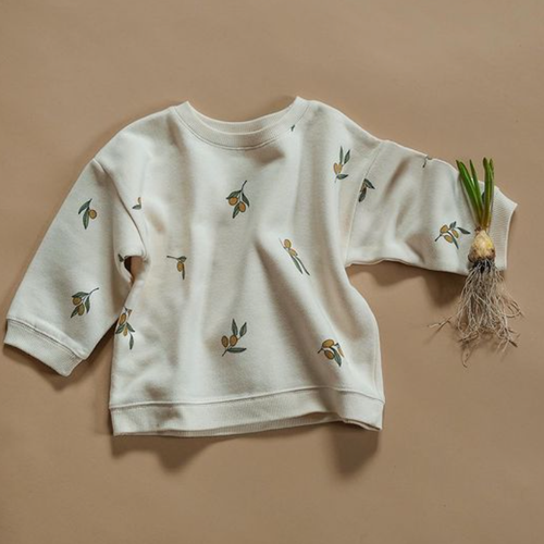 Organic French Terry Sweatshirt, Olive Garden