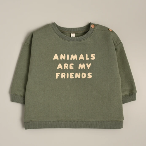 Organic French Terry Sweatshirt, Animals