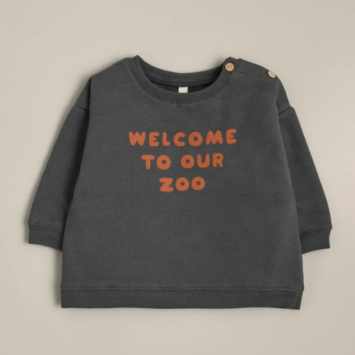 Organic French Terry Sweatshirt, Zoo
