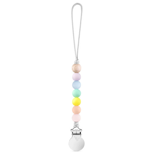 Charley Cutie Pacifier Clip, Pastel