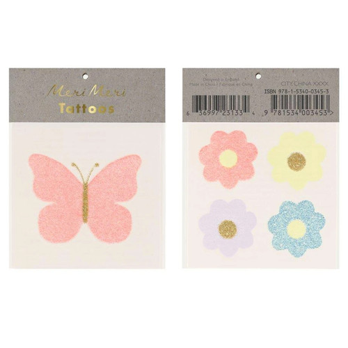 Floral Butterfly Tattoos