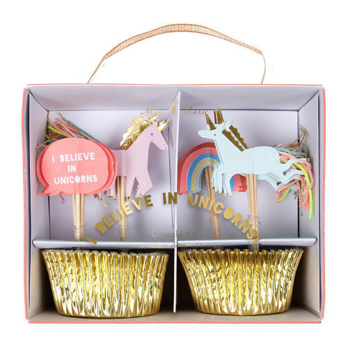 I Believe in Unicorns Cupcake Decorating Kit