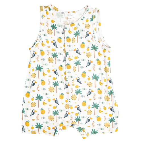 Sleeveless Shortall, Petite Tropicale