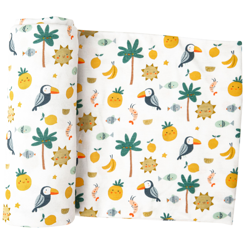 Bamboo Swaddle, Petite Tropicale