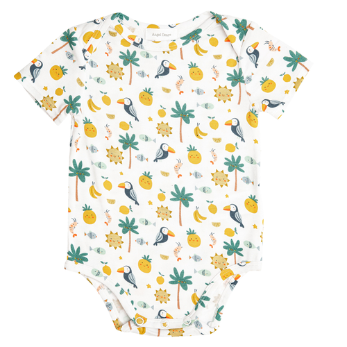 Short Sleeve Bodysuit, Petite Tropicale