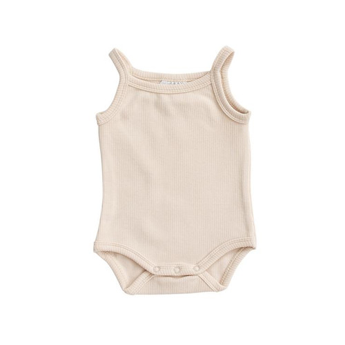 Tank Ribbed Bodysuit, Cream