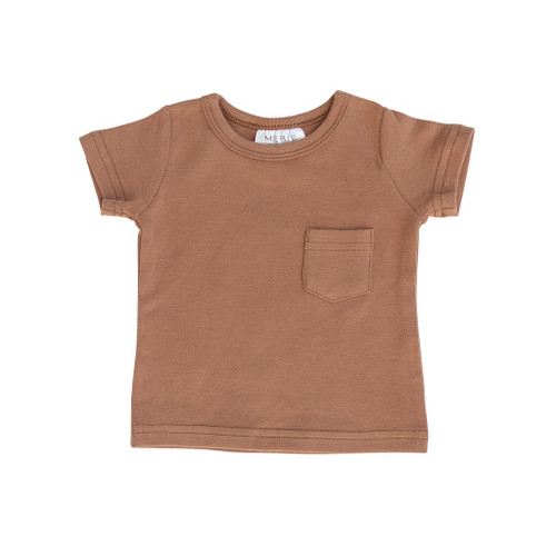 Short Sleeve Pocket Tee, Honey