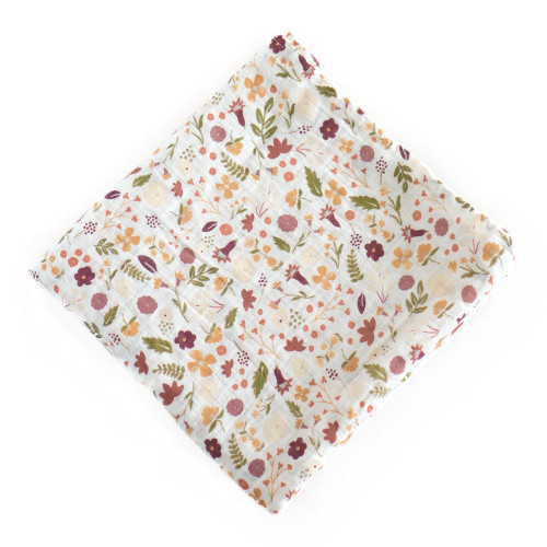 Muslin Swaddle, Mauve Meadow