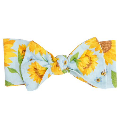 Knot Headband, Sunflowers