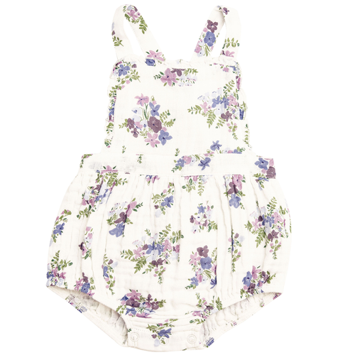 Ruffle Sunsuit, Lily of the Valley