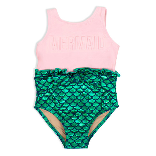 Mermaid Swimsuit, Pink/Green