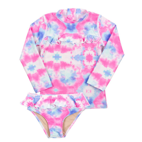 Rashguard Set, Cotton Candy Tie Dye
