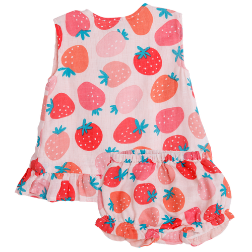 Ruffle Top & Bloomer, Strawberries