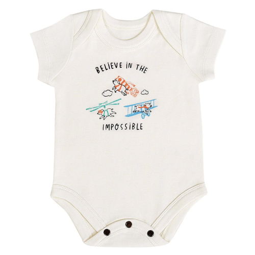 Organic Graphic Bodysuit, Believe