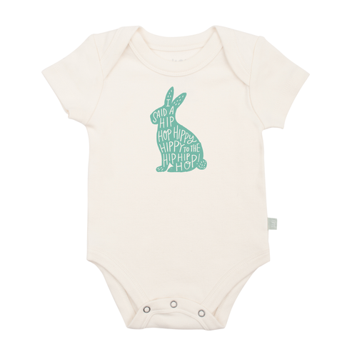 Organic Graphic Bodysuit, Hippy Hoppy