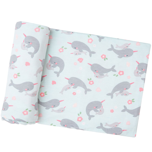 Bamboo Swaddle, Narwhals