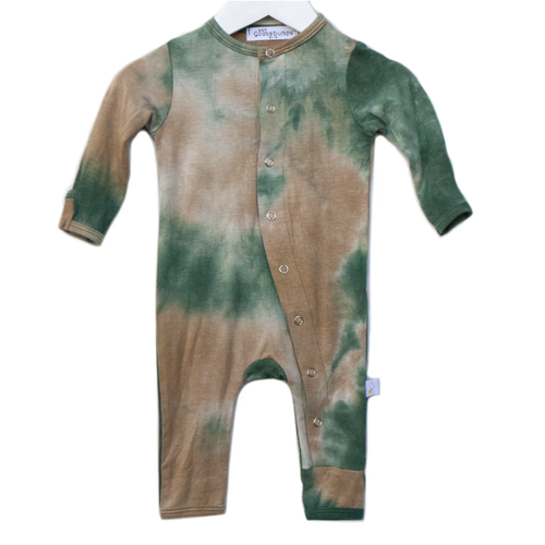 One Piece Snap Romper, Eucalyptus