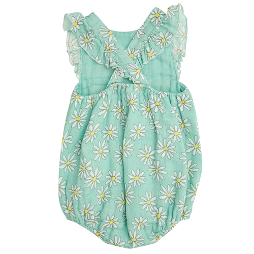 Ruffle Sunsuit, Flower Power