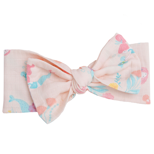 Knot Headband, Mermaids Pink