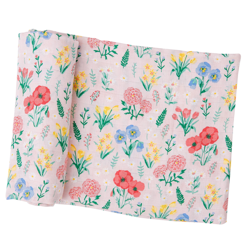 Muslin Swaddle, Summer Floral
