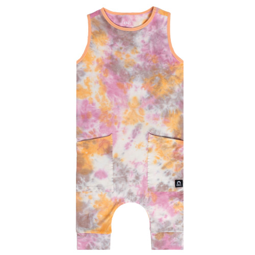 Tank Capri Hip Pocket Rag, Apricot Rose Tie Dye