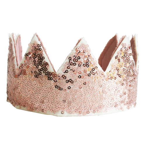 Sequin Crown, Rose Gold