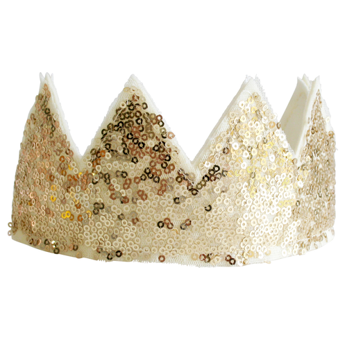 Sequin Crown, Gold