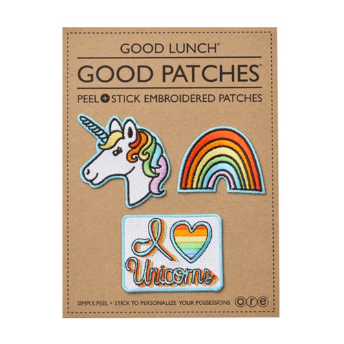 Peel & Stick Embroidered Patches, Unicorn