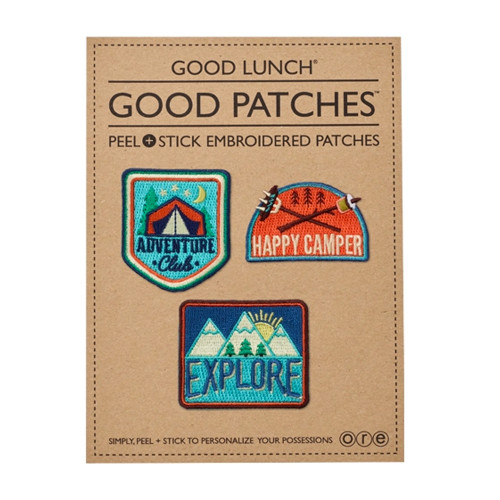 Peel & Stick Embroidered Patches, Camper