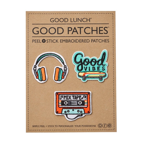 Peel & Stick Embroidered Patches, Good Vibes