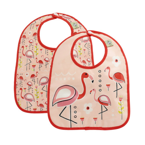 Mini Bib Set, Flamingo