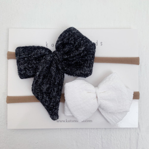Nylon Headband Bow Set, Alder